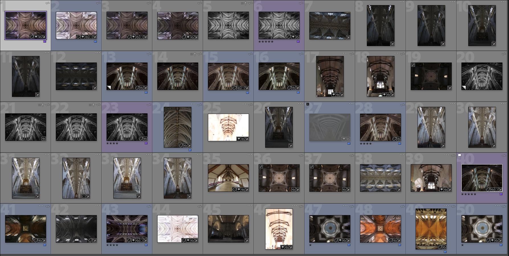 50 church ceilings