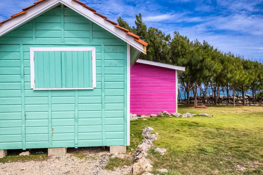 Colourful buildings on the north of the island of Barbados