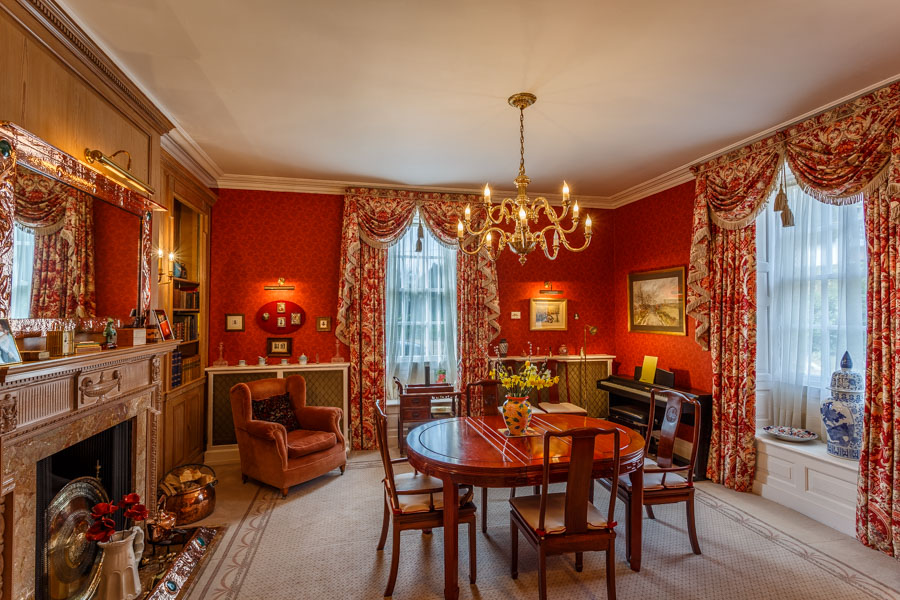 Dining room in a country house by Rick McEvoy Photography