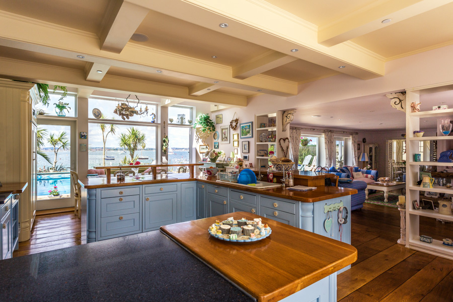 Picture of a kitchen in Sandbanks with a sea view by Rick McEvoy