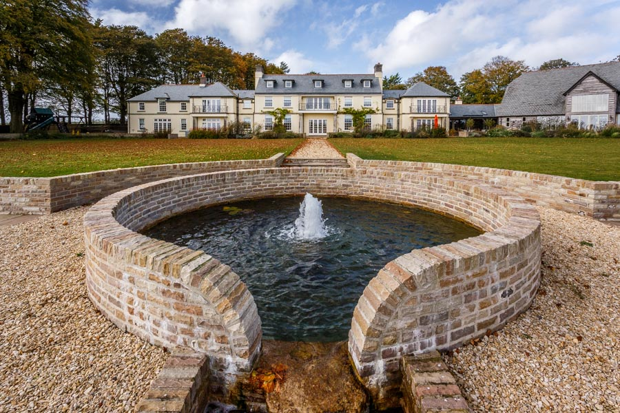 Picture of the grounds and extension to a Dorset country residen