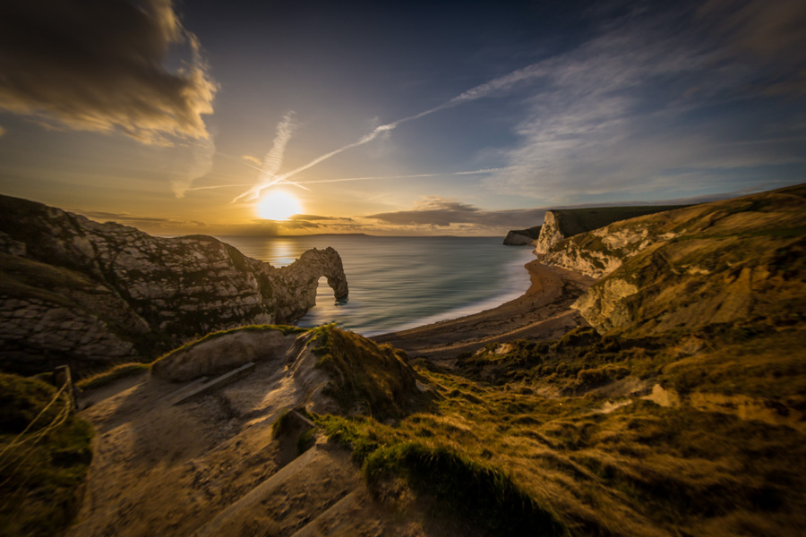 Durdle Door and a spectacular sunset on the Jurassic Coast