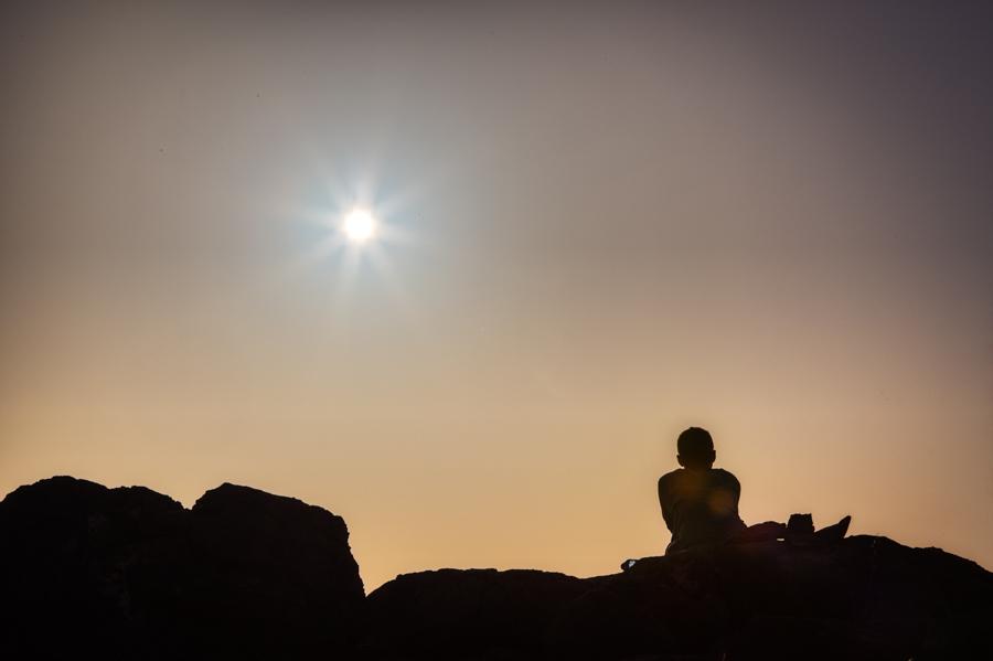 Sunrise comtemplation on the Greek Island of Rhodes