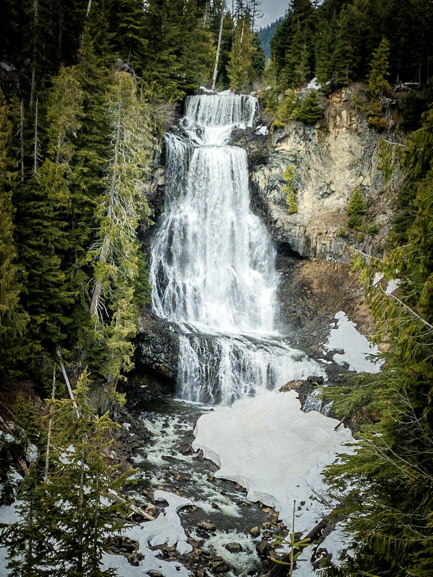 Waterfall, Whistler Olympic Park, British Columbia, Canada