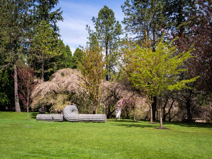 Sculpture and Spring colours in the Van Dusen Botanical Gardens V2.jpg