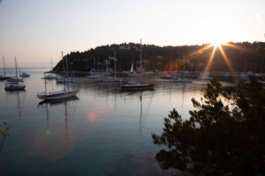 Sunrise in Lakka - unprocessed RAW file