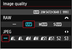 Canon 6D RAW settings
