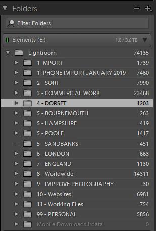 My Lightroom file structure