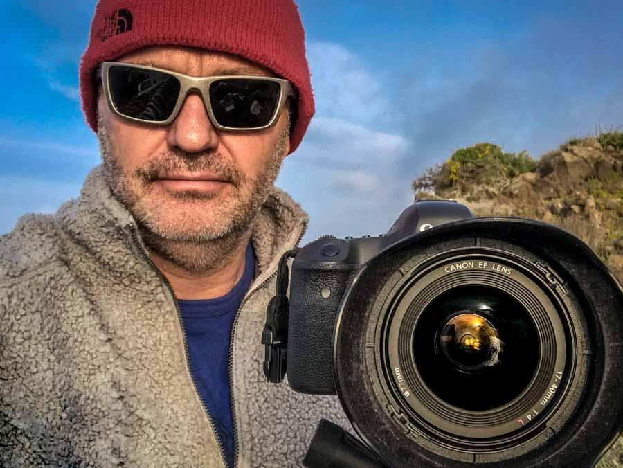 Me on location in Santorini