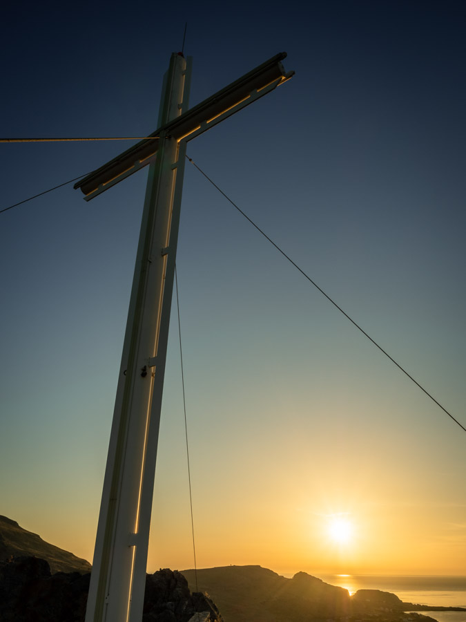 Cross at Prophet Elias Church at Sunrise