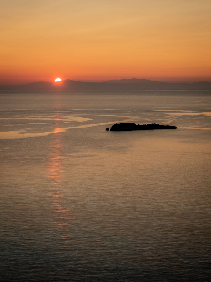 Sunrise in Rhodes Greece