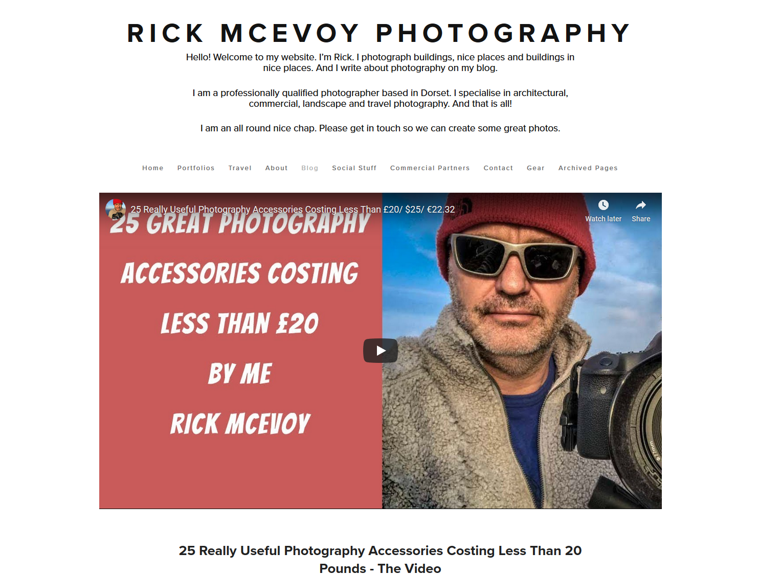 Photography Blog by Rick McEvoy