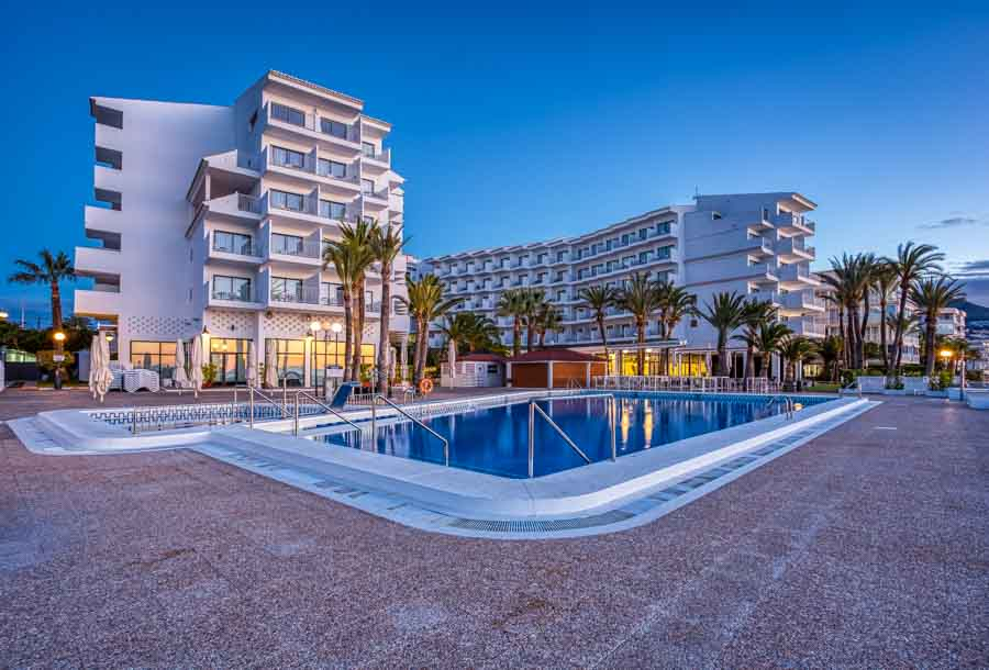 Cap Negret Hotel Altea Spain at sunrise