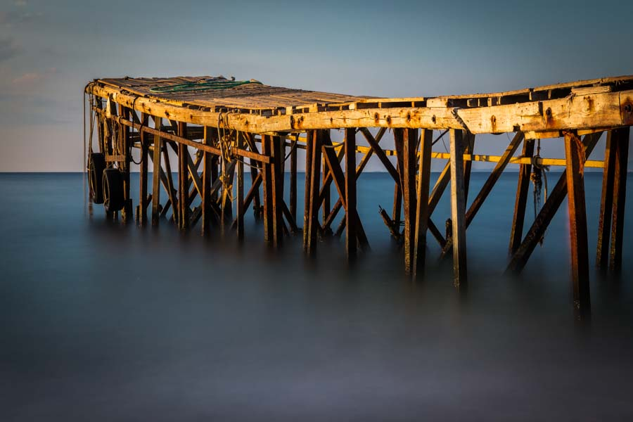 Jetty, Nissaki Beach, Corfu by travel photographer Rick McEvoy.jpg