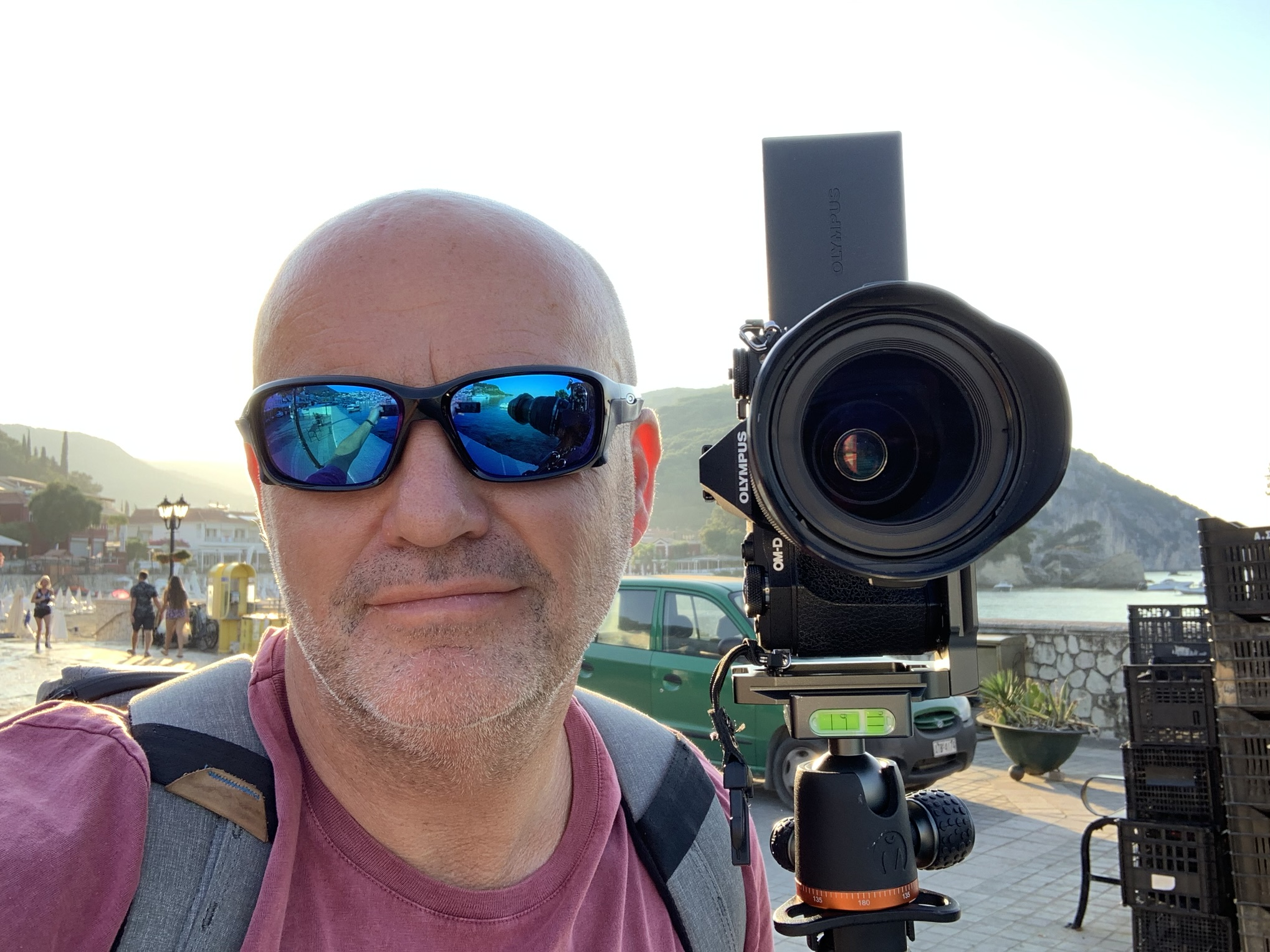 Me and my Olympus OM-D EM5 Mk 2 on location in Parga