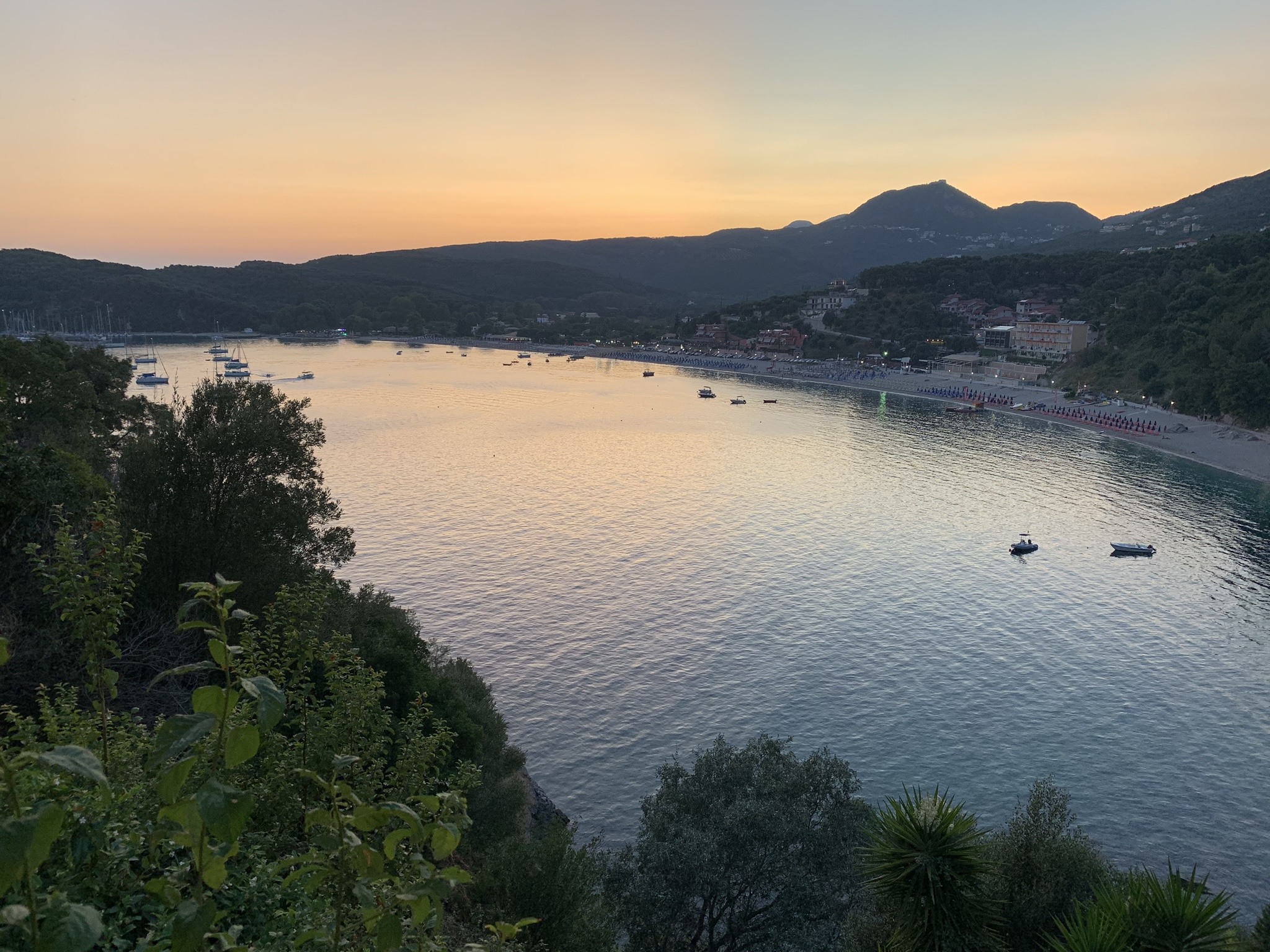 The view from Taverna Stefanos