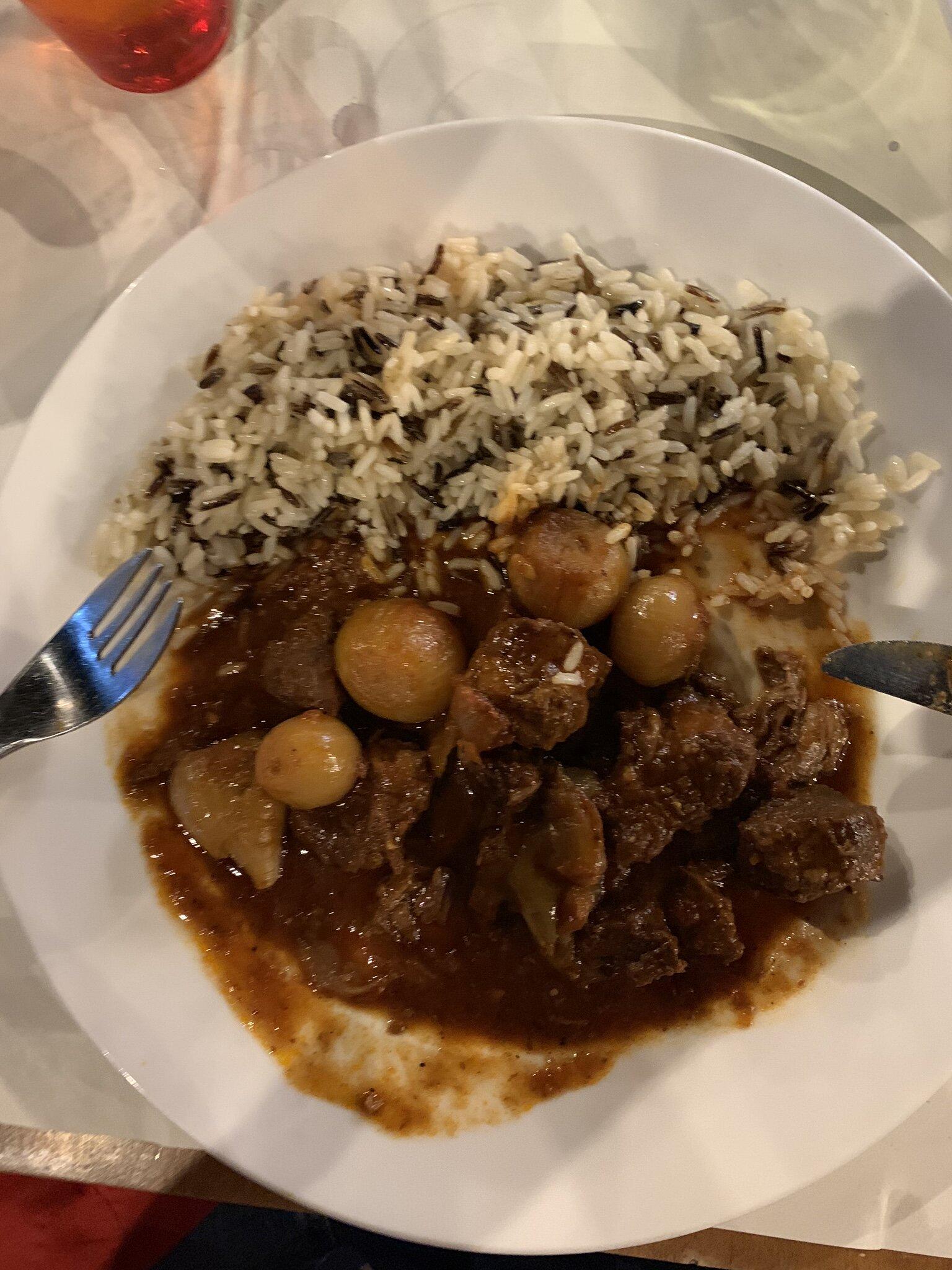 Beef Stifado at Toros in Parga