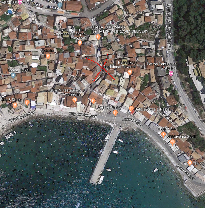 Location of the TUI office in Parga