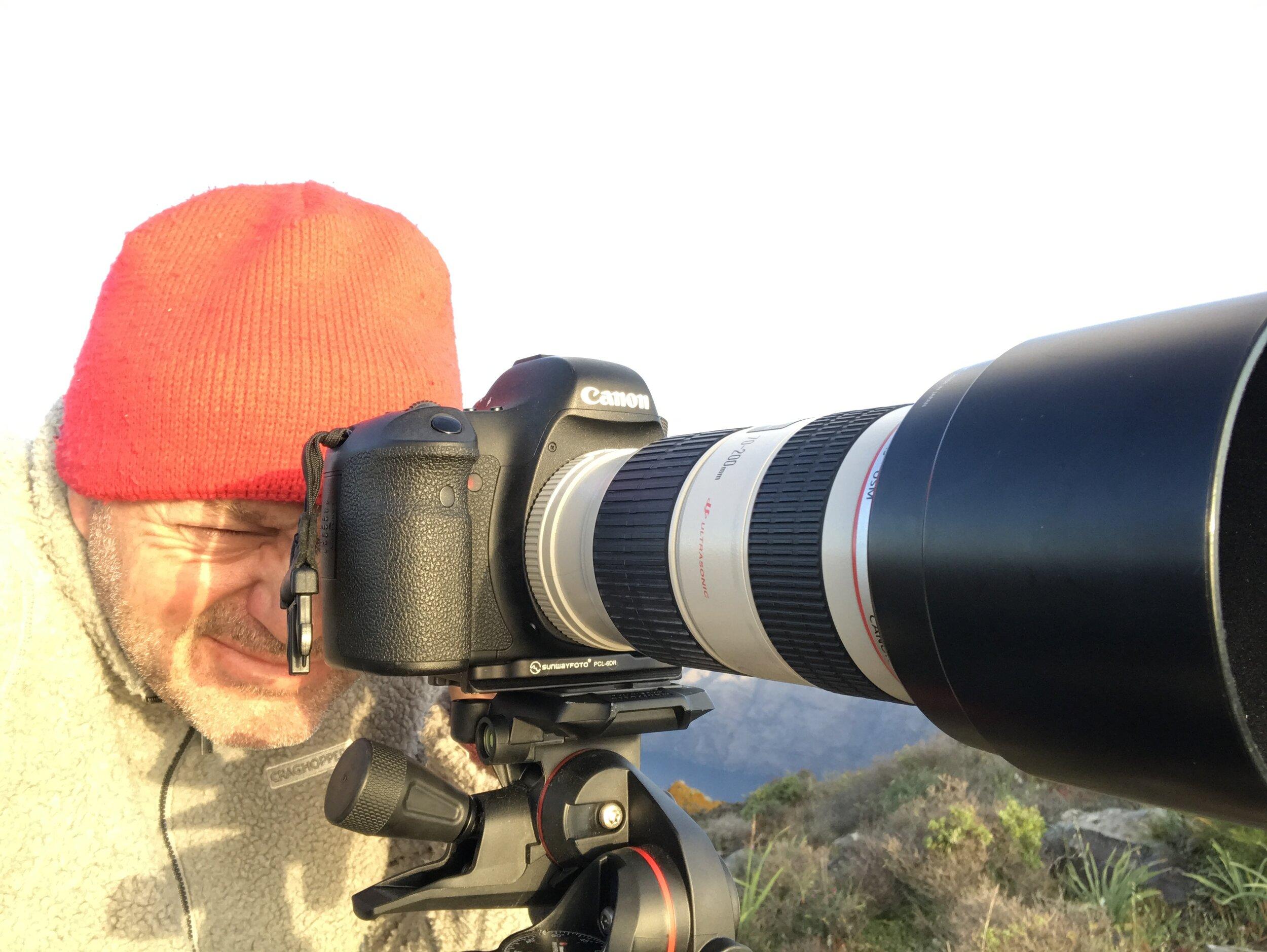 Me taking photos on Santorini