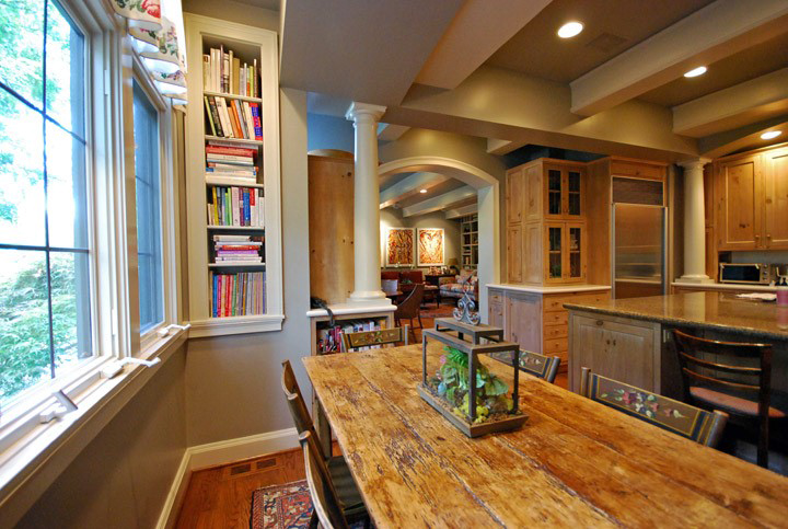 """You'd be surprised how much space in in wall cavities - why waste it? Book nooks are """"diggable"""" and one of our favorite projects."""