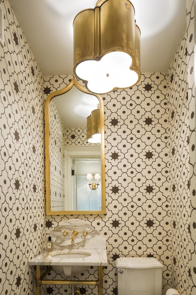 With rare exception, our philosophy is that powder rooms should sparkle.