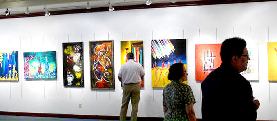 Inside the Southern Nevada Museum for Fine Art International Contemporary Masters IV exhibition