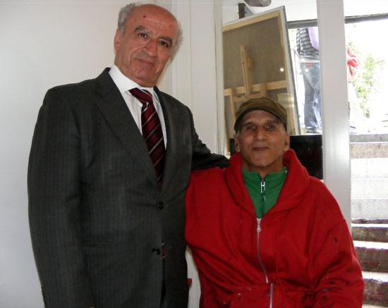 Jamal Khamis at the BIHP exhibition