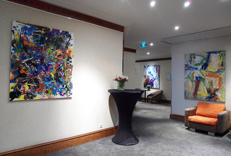Three Paintings in hall