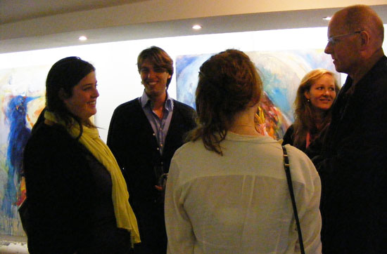 Visitors at the exposition at BIHP