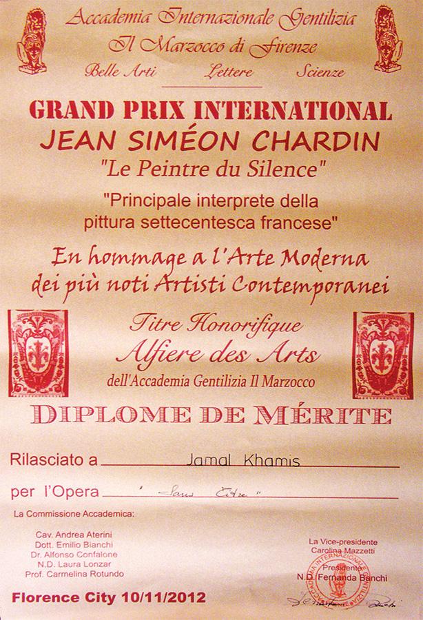 Grand Prix International Jean Simeon Chardin Award 2012