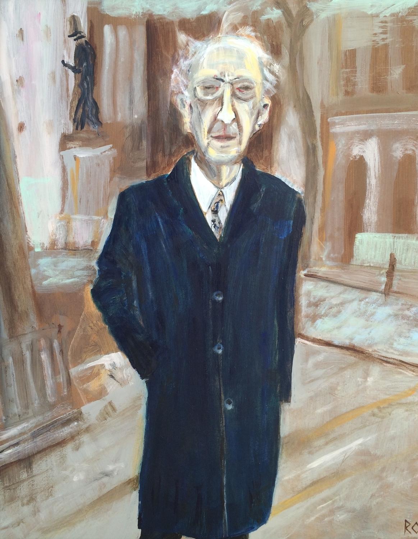 Dad at Wesley's Chapel, City Road, London