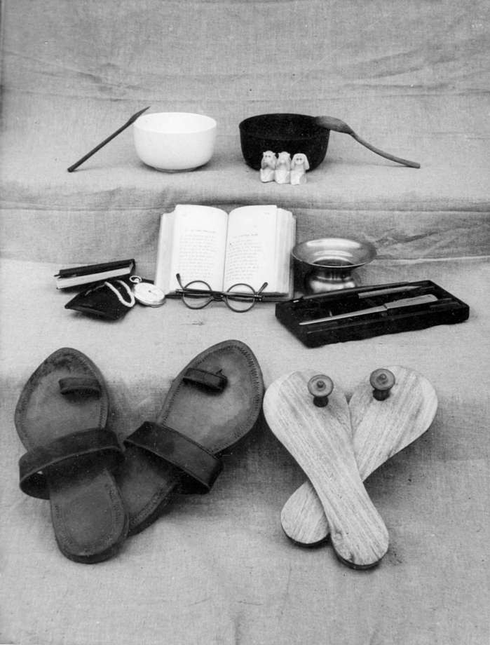 gandhi's simple possessions.jpg