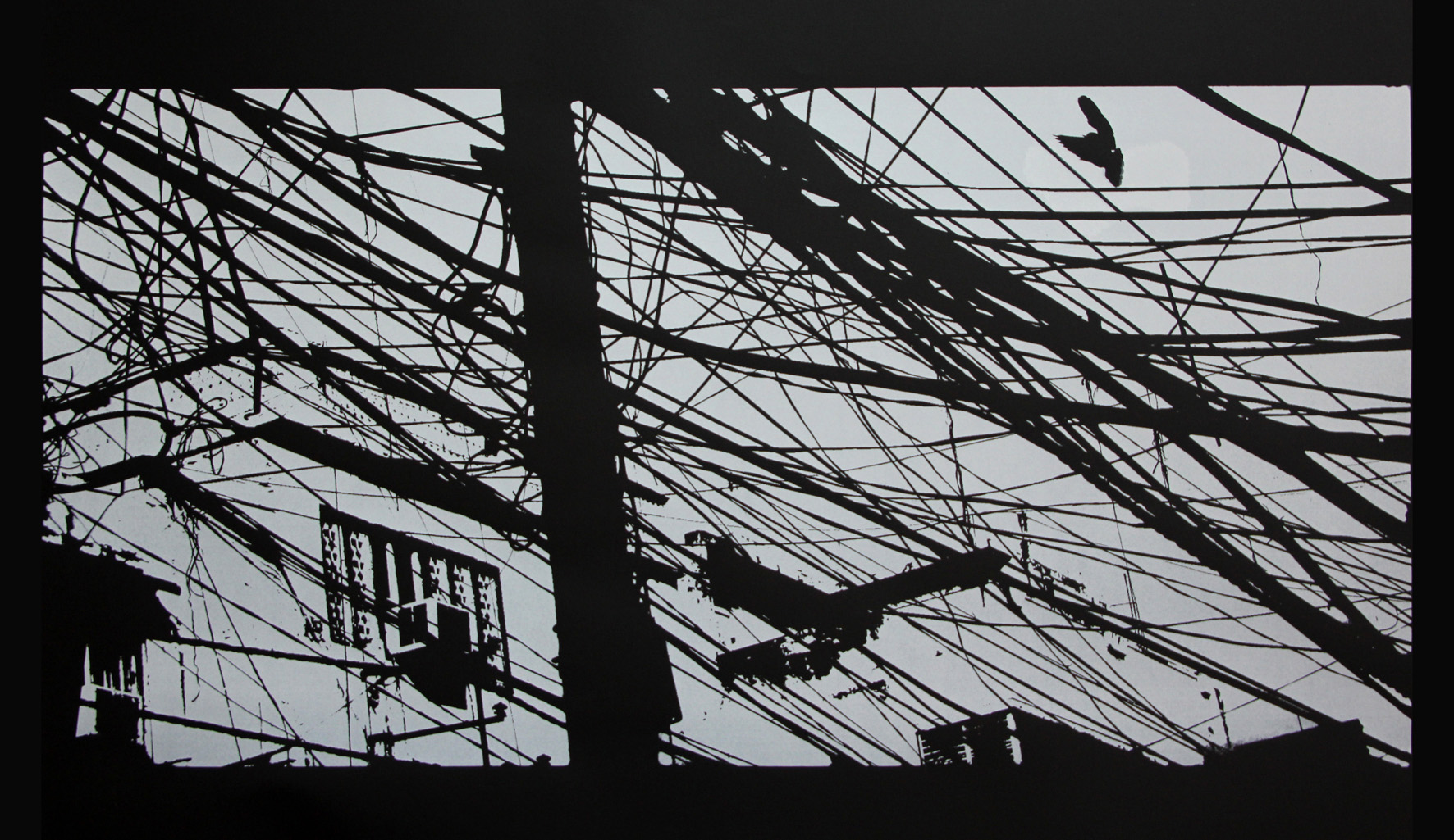 Connection I -   Delhi - 2011 - Screen print on paper - 120 x 80 cm - Edition of 05