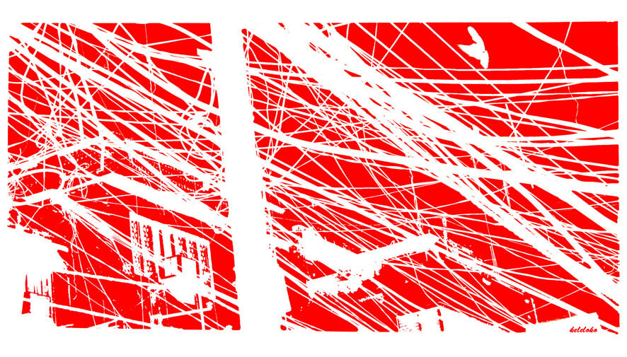 Connection I -   Delhi - 2011 - Screen print on paper - 120 x 80 cm - Edition of 03