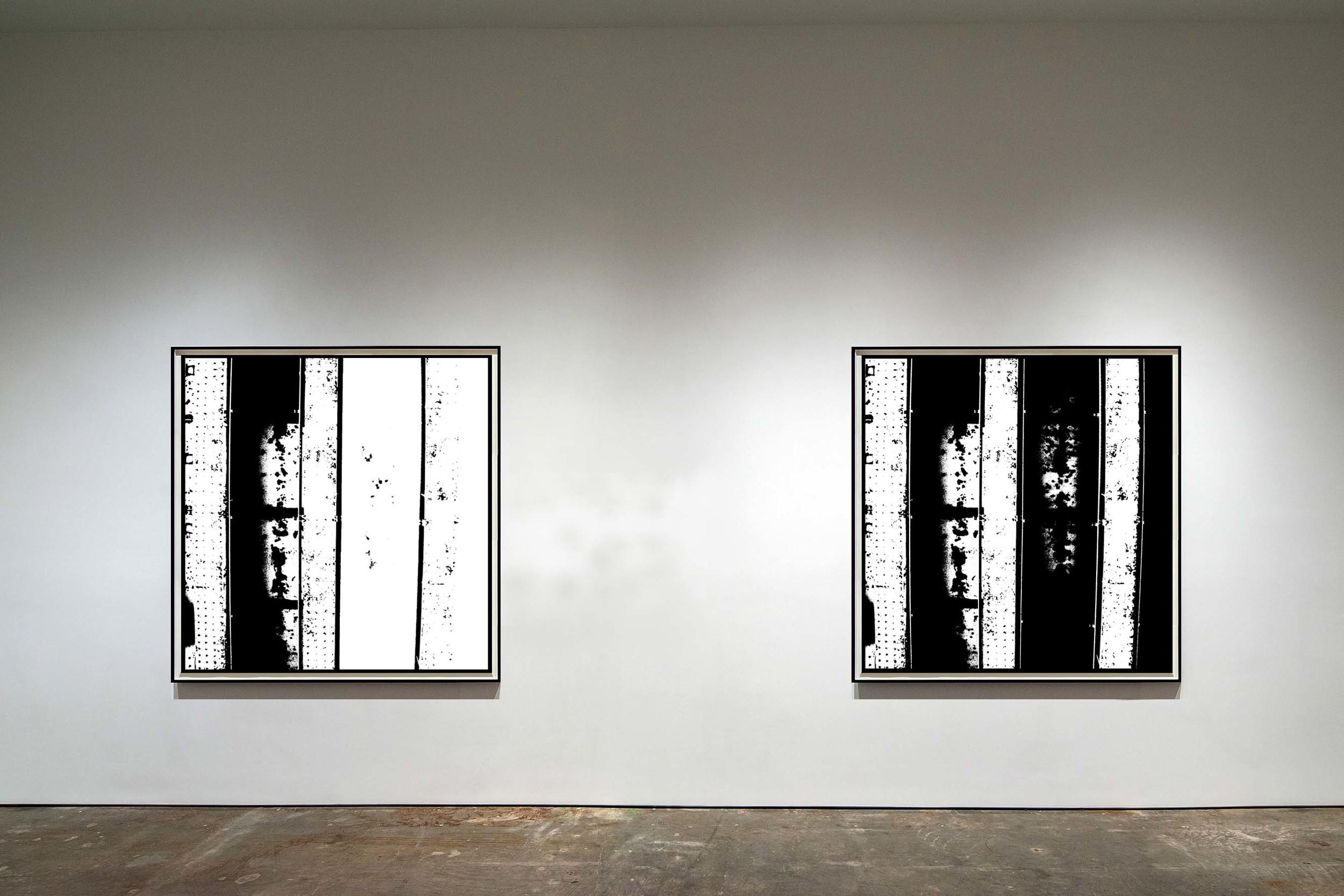 London below  - 2013 - Screen print on paper - 150 x 150 cm  - Edition of 01