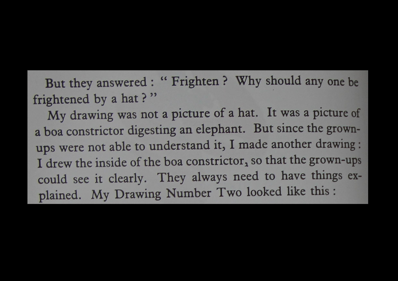 Excerpt from 'The Little Prince', Antoine de Saint-Exupéry