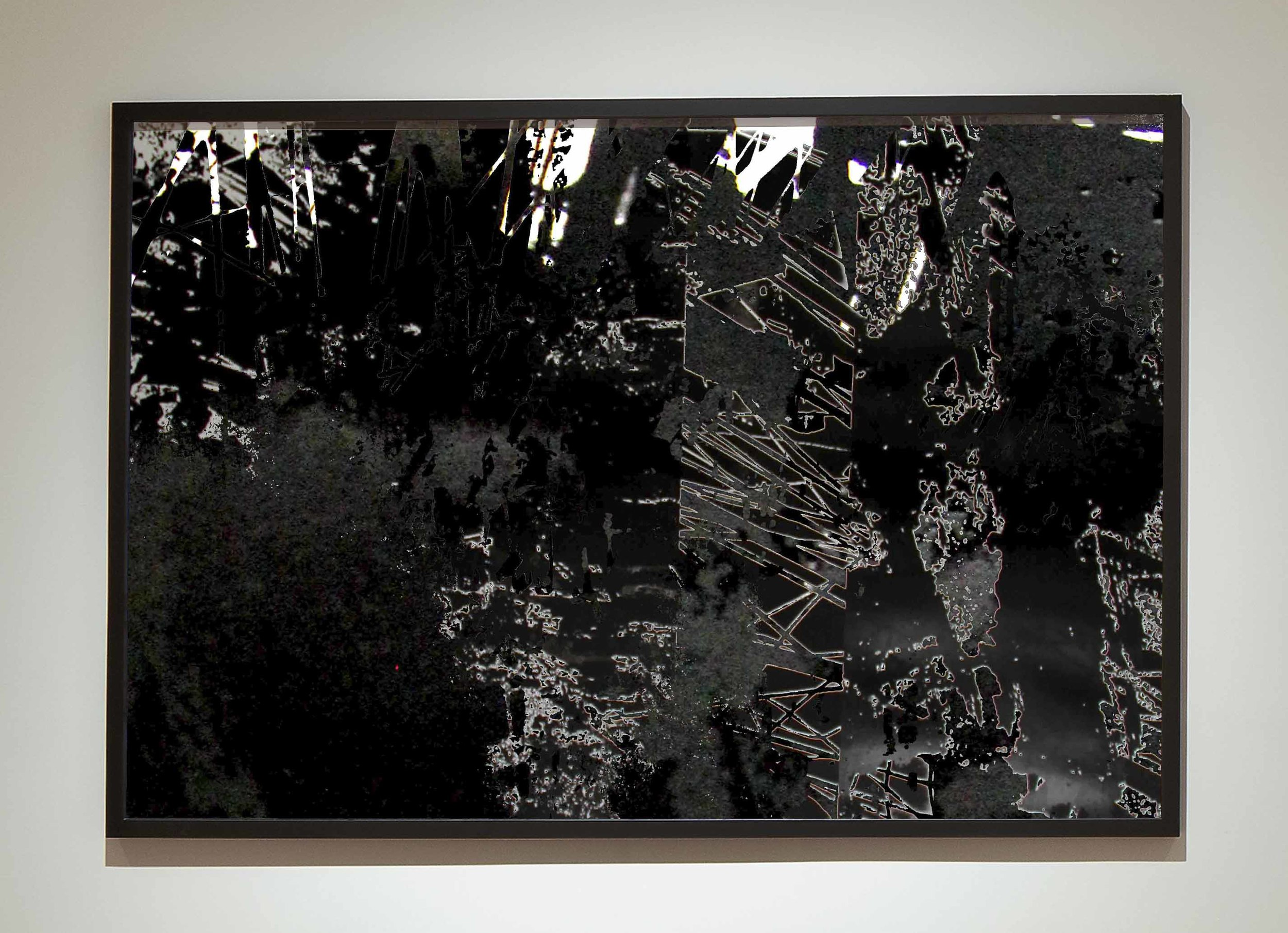 Matière III  - 2014 - Screen print on paper -   90 x 60 cm  - Edition of 01