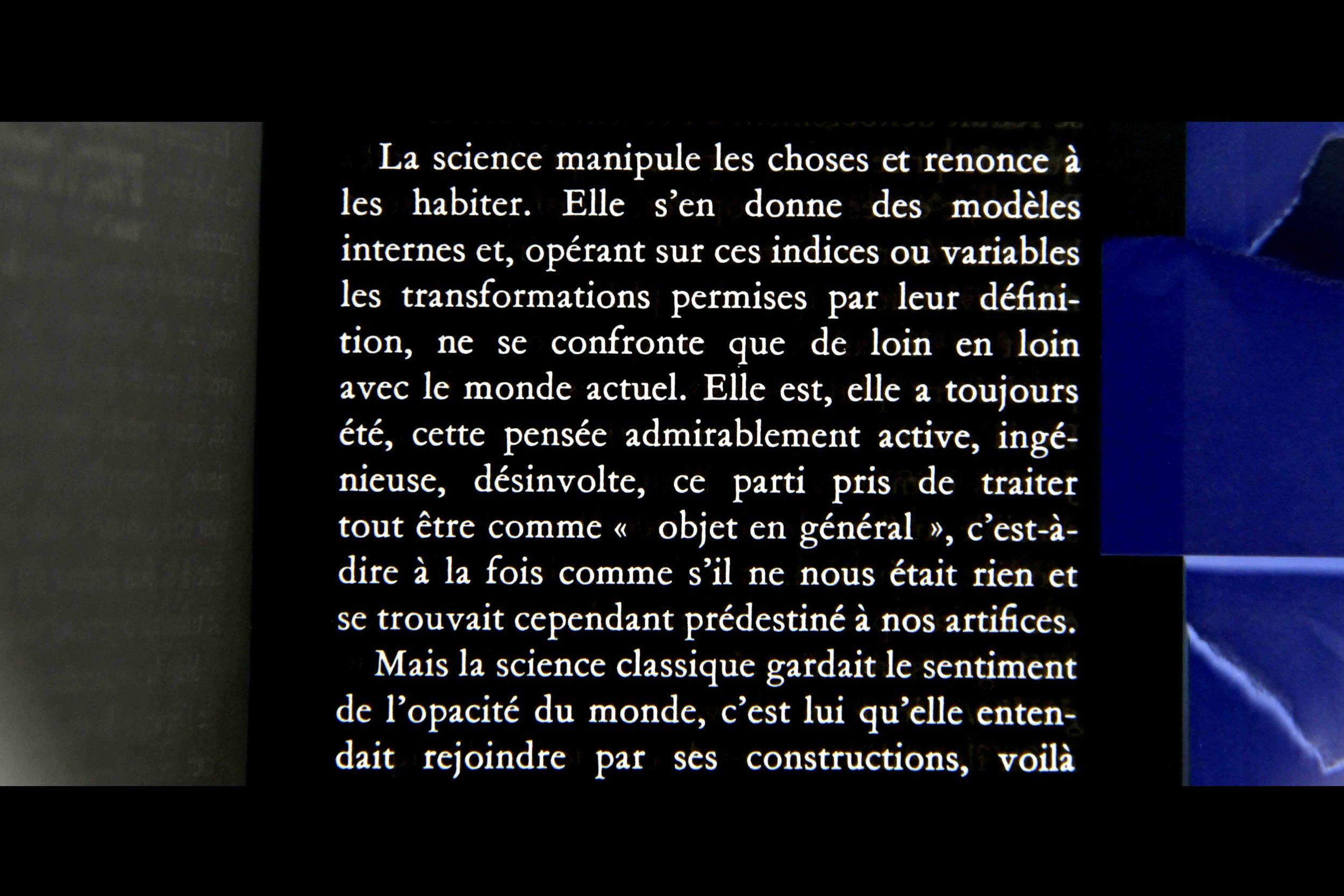 Excerpt from 'L'oeil et l'Esprit', Merleau- Ponty