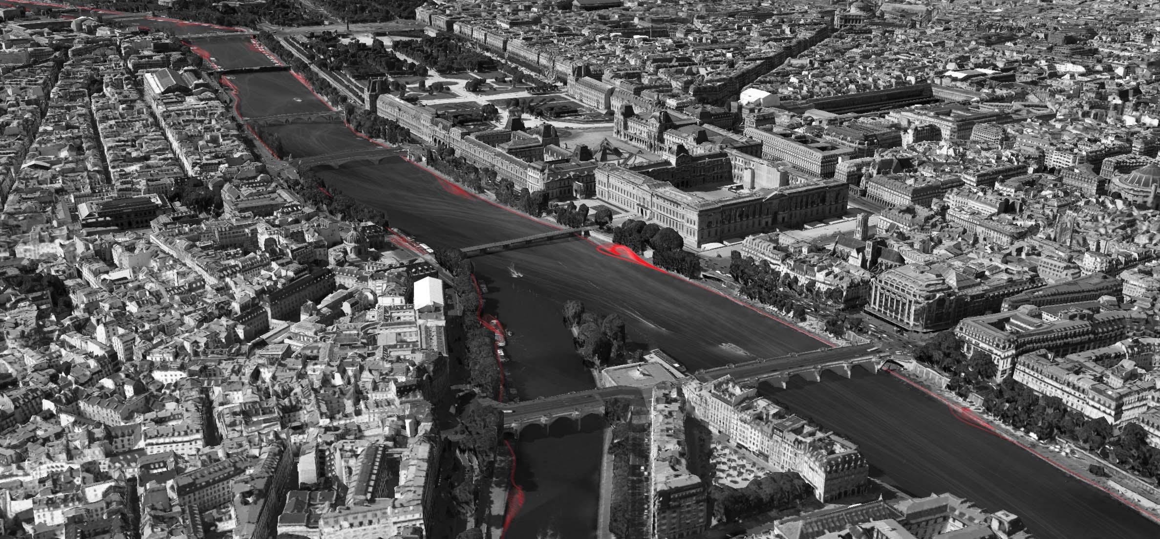 Sound spaces Paris - 2016 - Digital drawing - A1