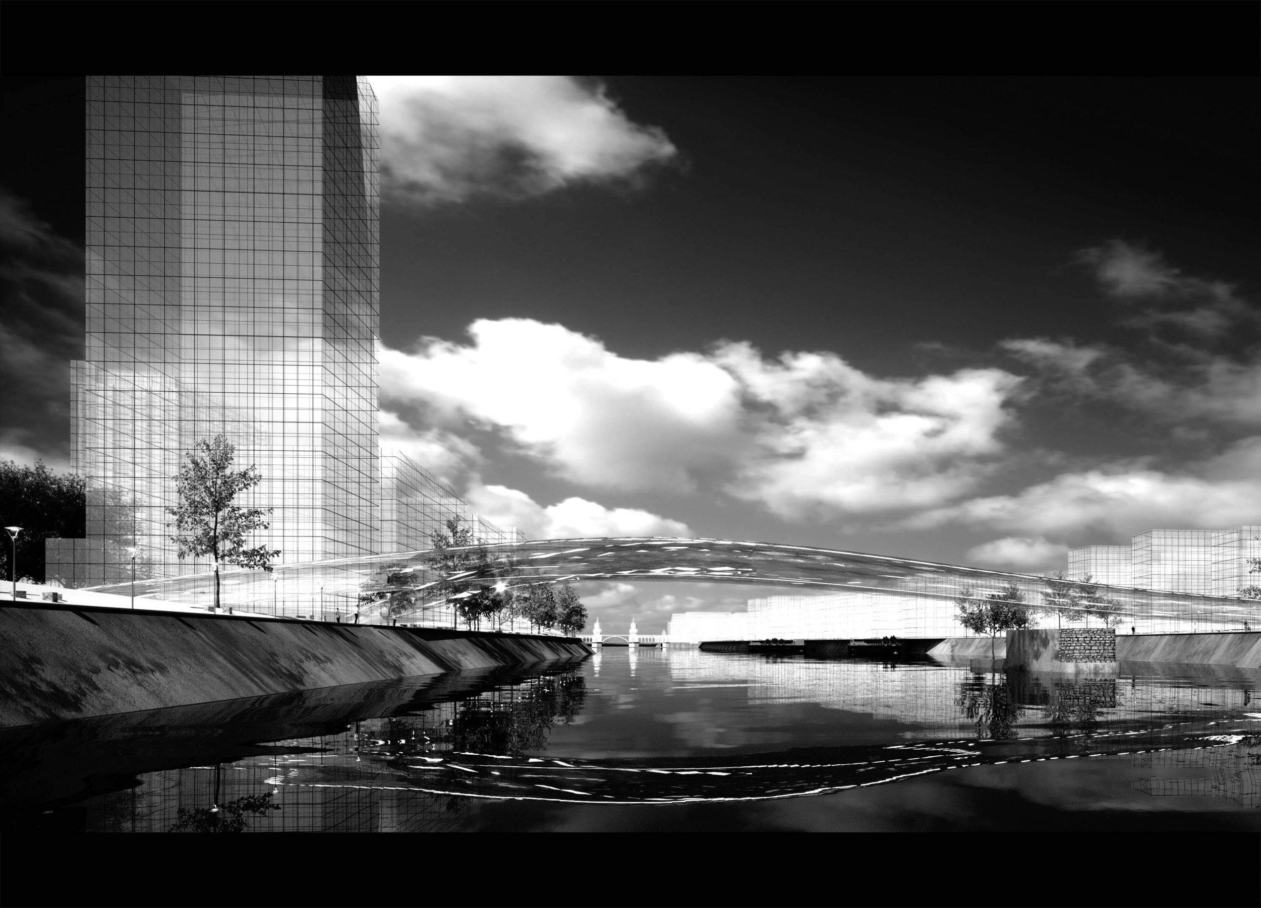 The flowing bridge - 2017 - Digital drawing/ rendering - A0