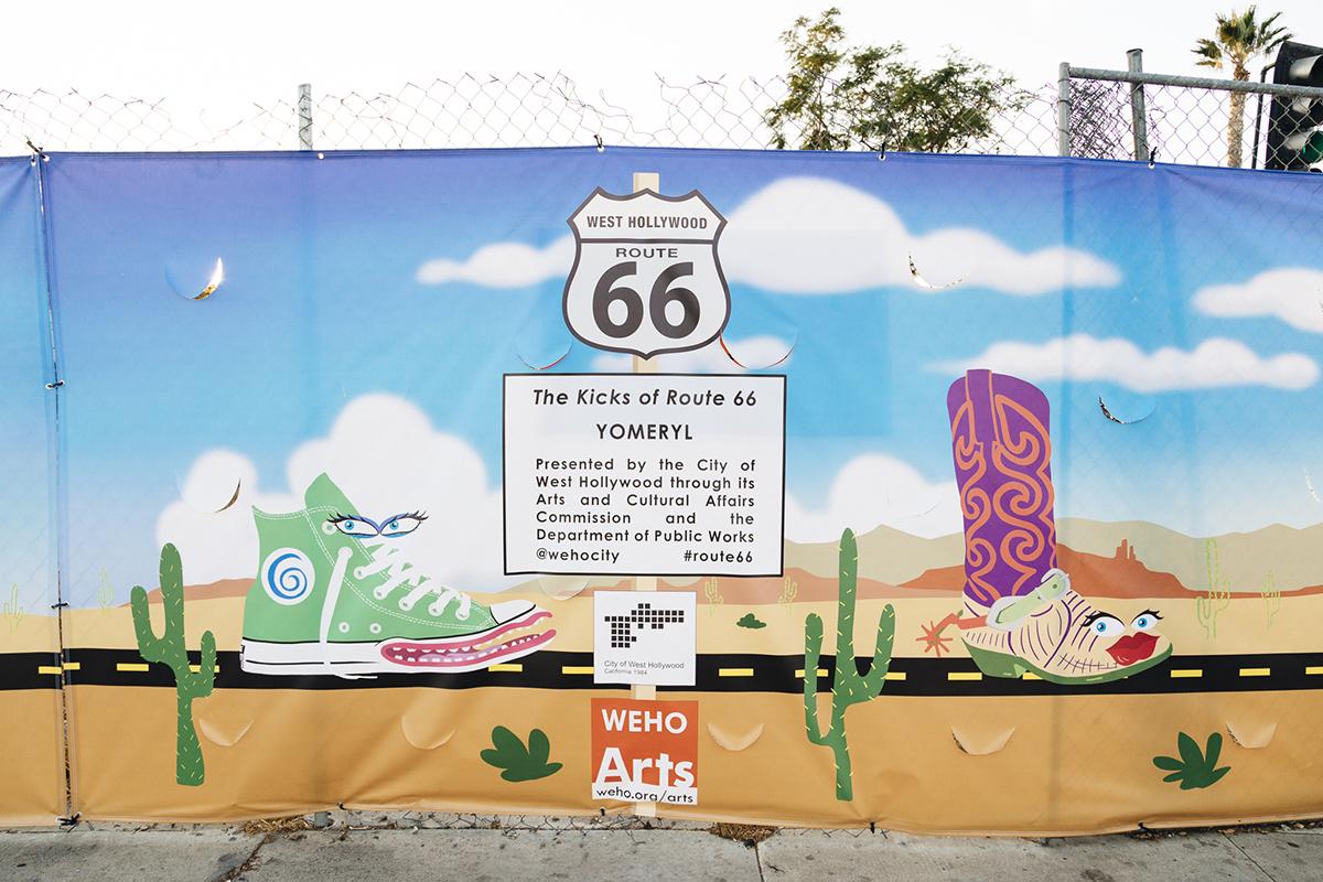 YoMeryl Mural Sign Detail