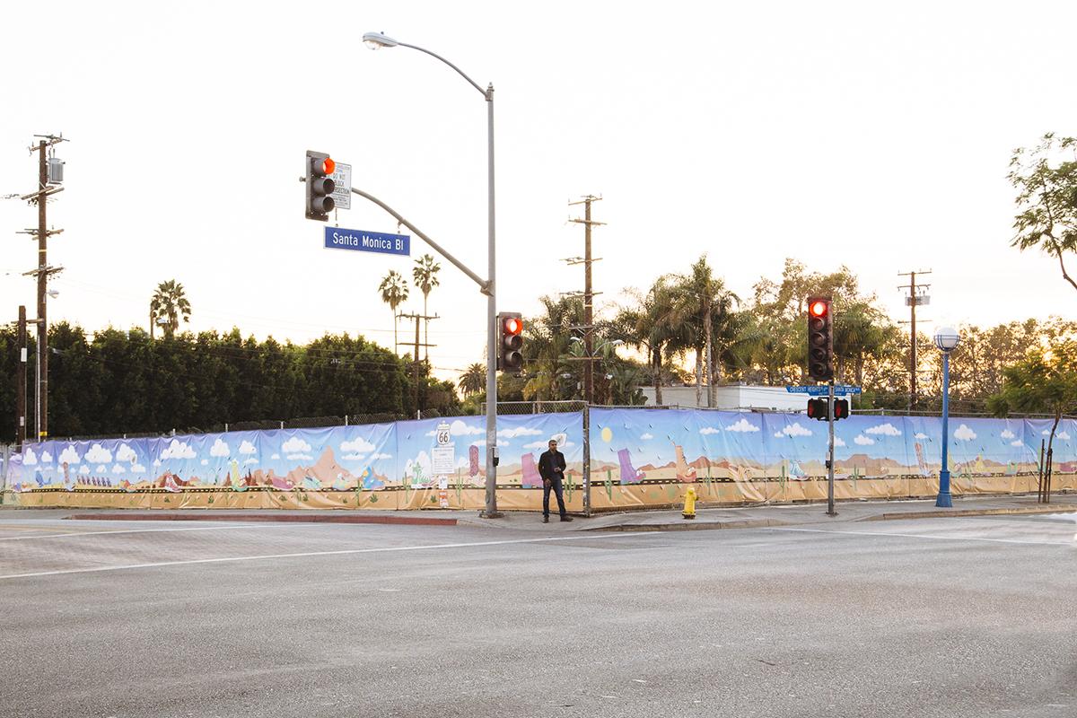 YoMeryl Mural on Santa Monica + Crescent Heights
