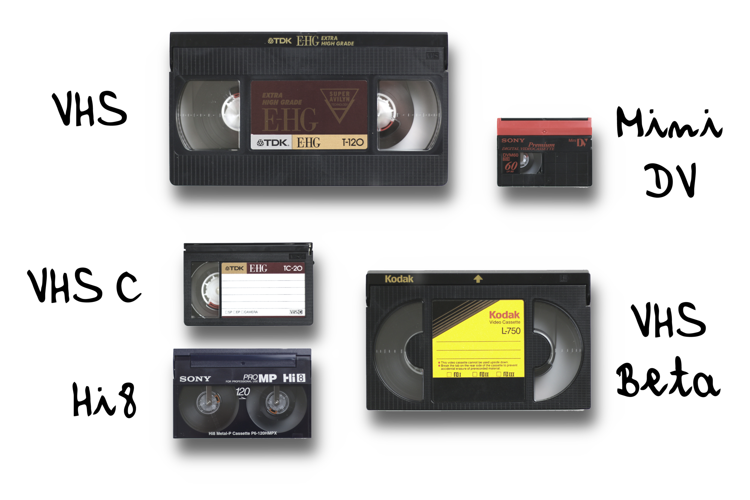 Video Tapes of Any Type - We don't just transfer the standard VHS like every other transfer service out there, we transfer them all! We Use our high quality transferring devices to handle the work.
