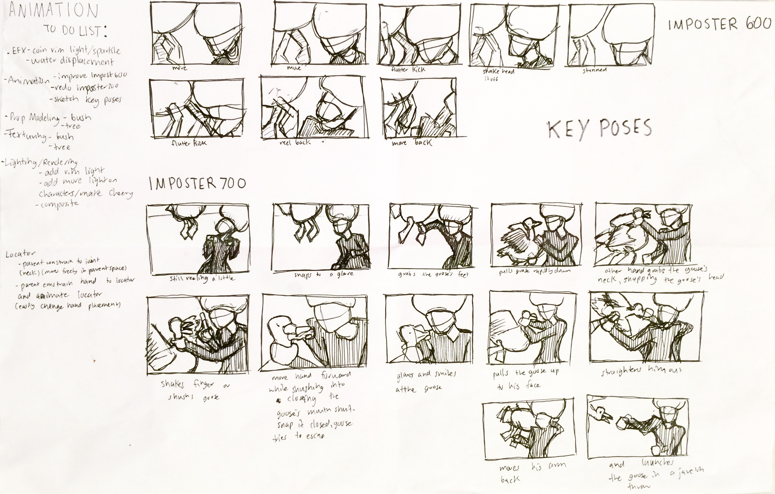 Breakdown Pose Sketches