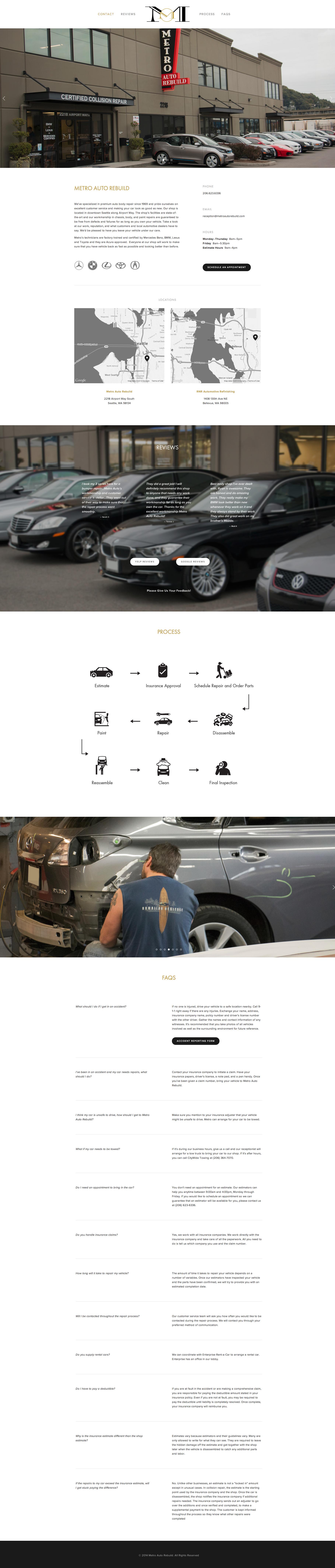 The new Metro Auto Rebuild website
