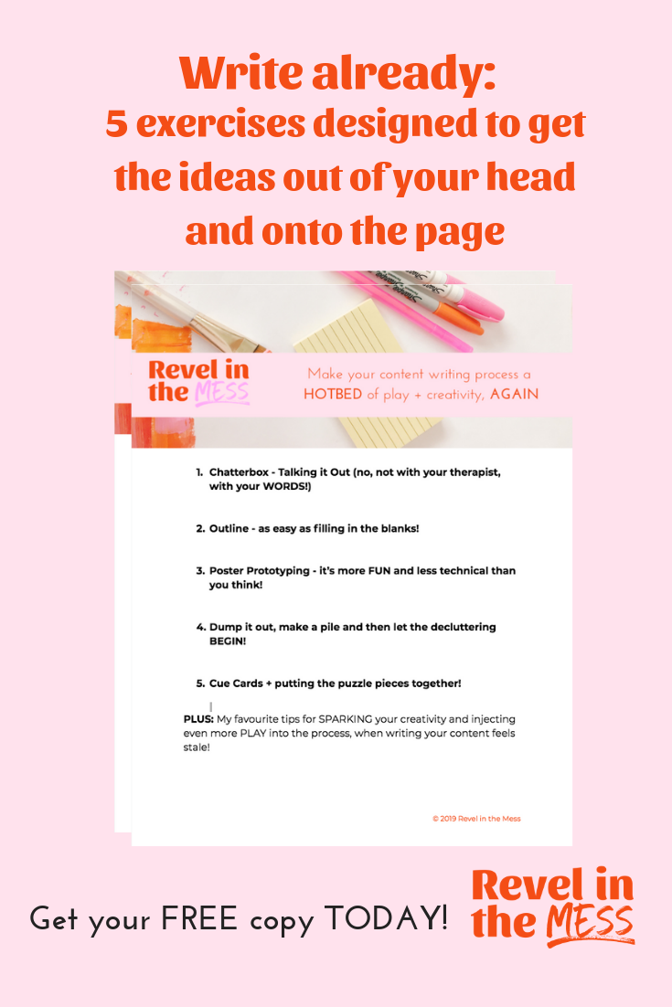 Write Already Content Writing Exercises to help you get the words out of your head