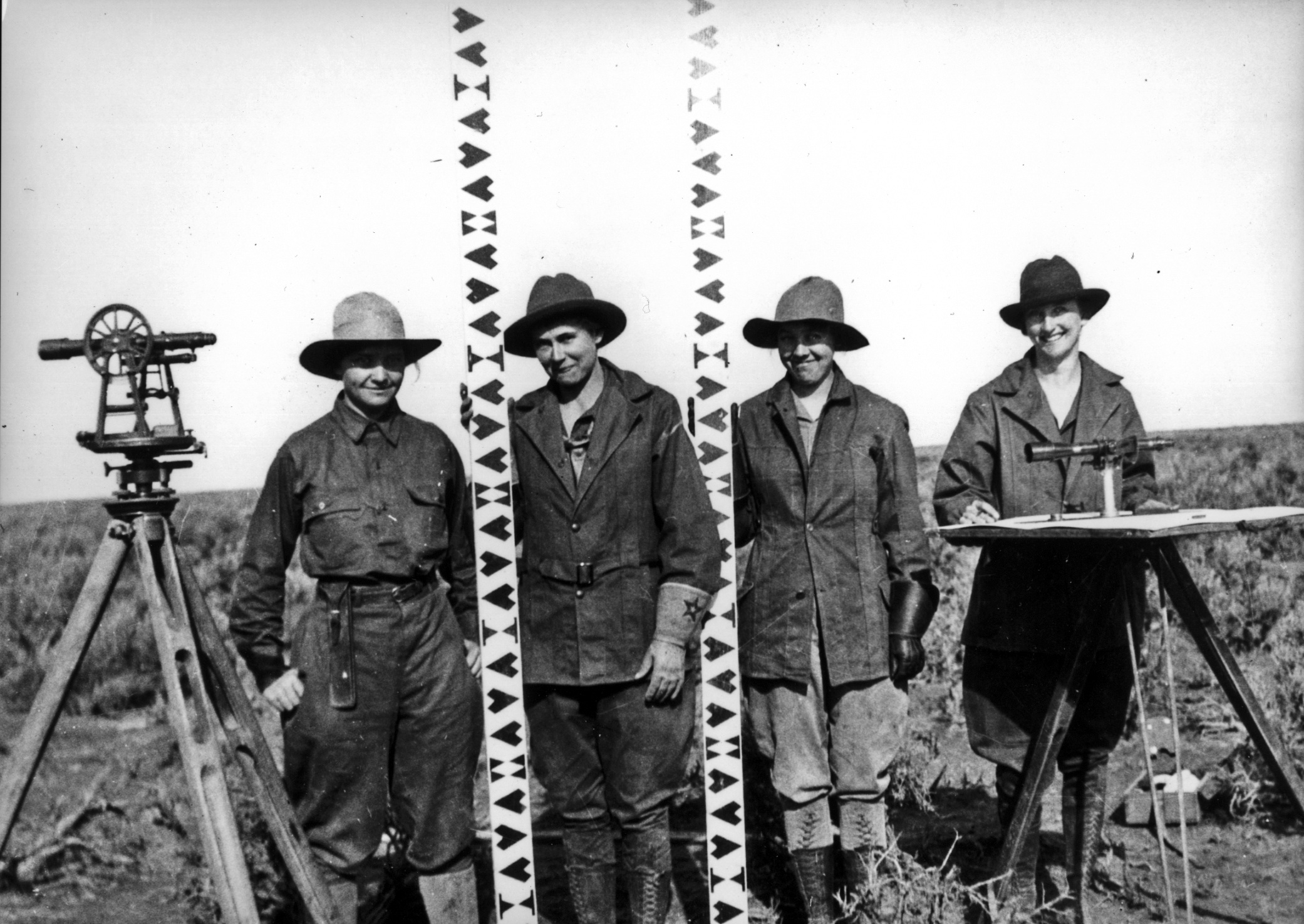 Minidoka Project, Idaho 1918. Photo from the U.S. Bureau of Reclamation, of the U.S. Department of the Interior