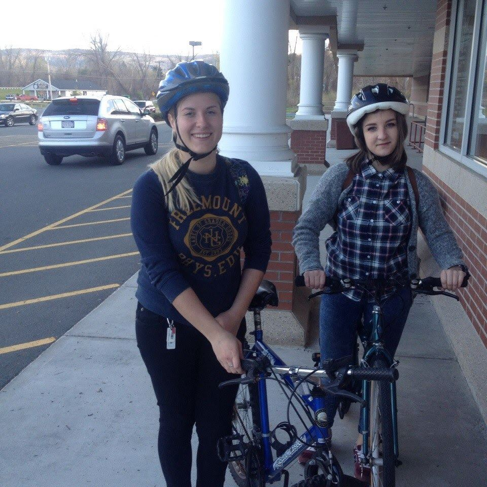 The most common mode of transportation!  Bike safety is a big part of our orientations....