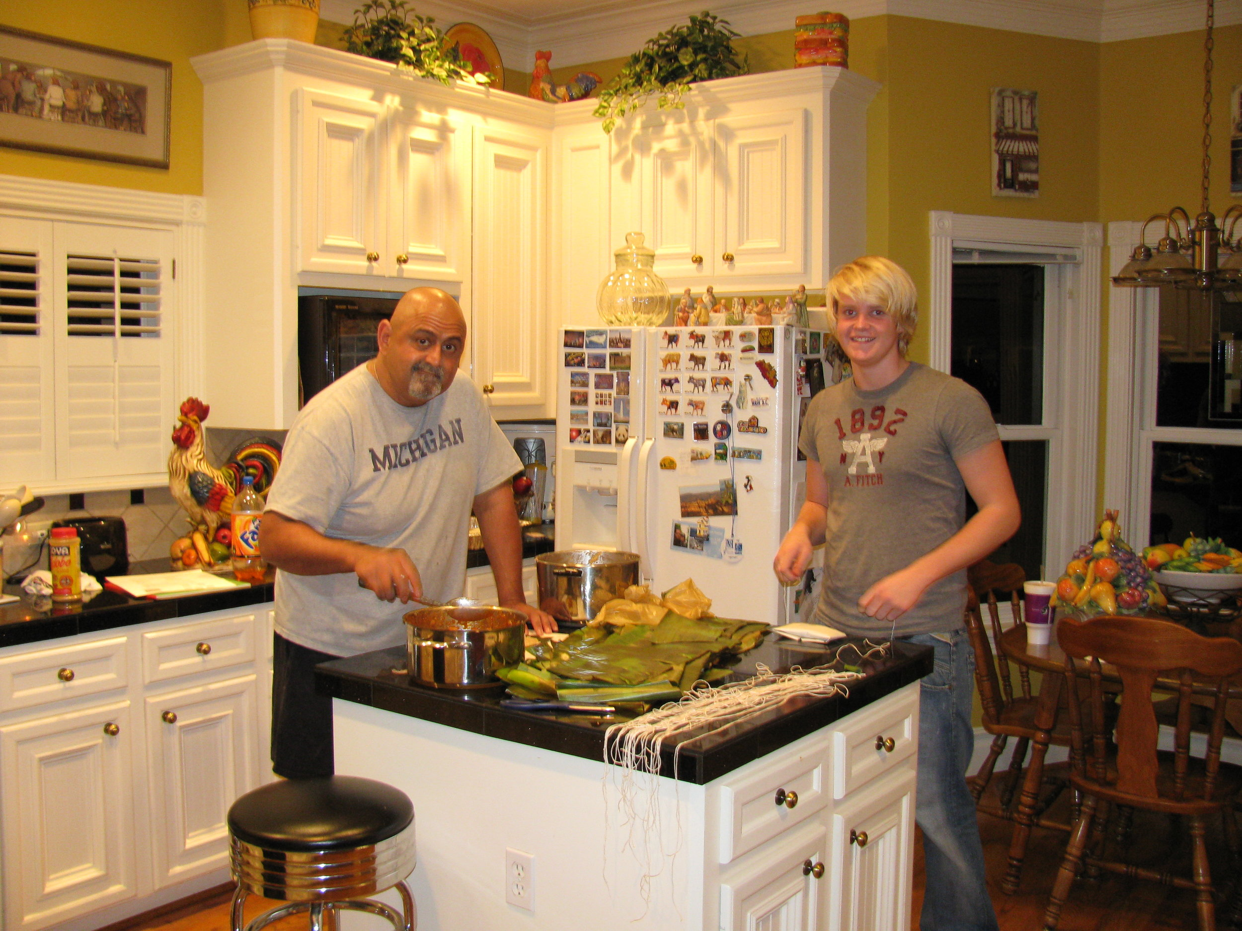 Chris and Juan making tamales.JPG