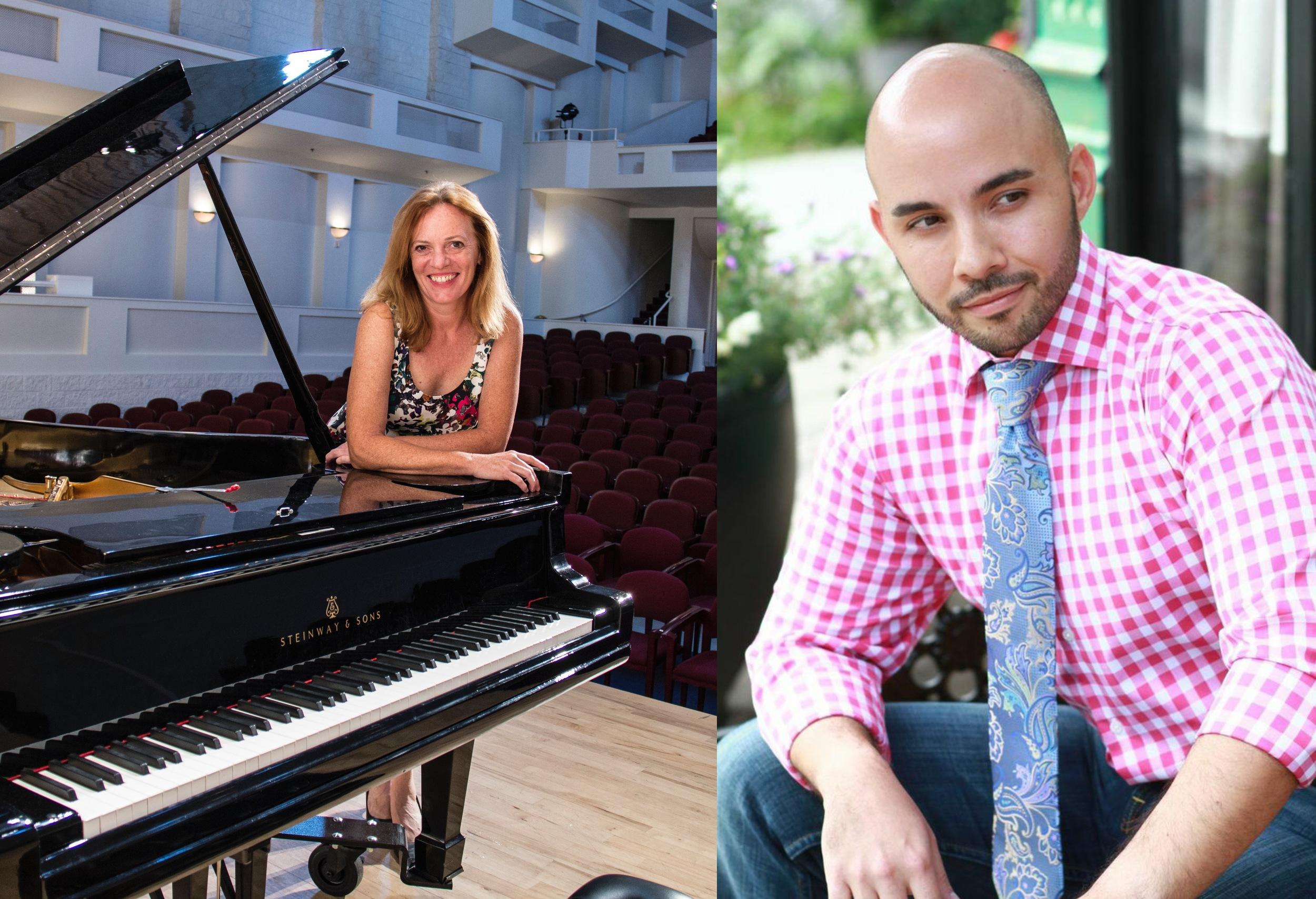 Mary Adelyn Kauffman (piano) and Javier Abreu (tenor)